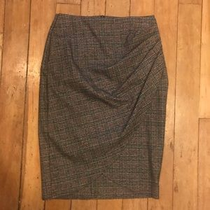 Zara Drape front pencil skirt